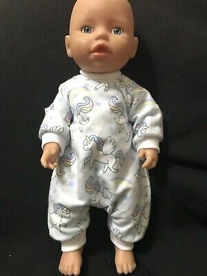 Dolls clothes made to fit 32cm Baby Born Dolls (size Small).  All In One Suit