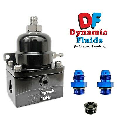 Dynamic Fluids AN6 -6 Adjustable Fuel Pressure Regulator Kit 40 - 75PSI (ORB -6)