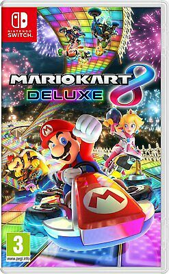Mario Kart 8 Deluxe Nintendo Switch Game - BRAND NEW & SEALED - FREE POST