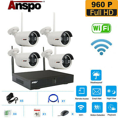 4CH WIRELESS WIFI Security Camera System NVR Night Vision CCTV