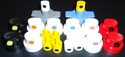The Basic Essentials Spray Paint Cap Pack Mixed Various Everyday Use Starter Kit