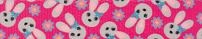 Country Brook Design® 1 Inch Spring Bunnies Polyester Webbing, 50 Yards