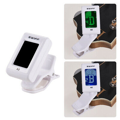 SWIFF A2 Clip-On Automatic Digital Tone Tuner for Acoustic Electric Guitar E8S3