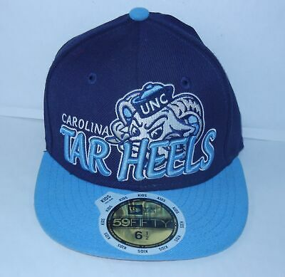 66d615a4220 New Era 59fifty North Carolina Tar Heel Kits HAT Fitted Baseball Cap Size 6  1