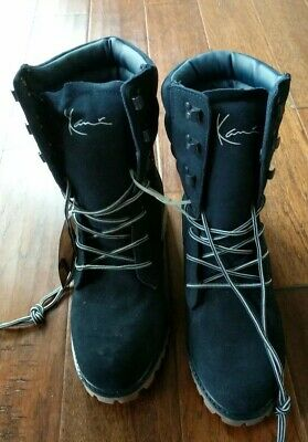 d9197cb1cf9 Karl Kani Mens Vintage Boot Size 10.5 M blue Leather RARE Triple Buckle