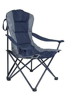 Mountain Warehouse Foldable Camping Chair Navy w/ Cup Holder - 96x60x96 cm