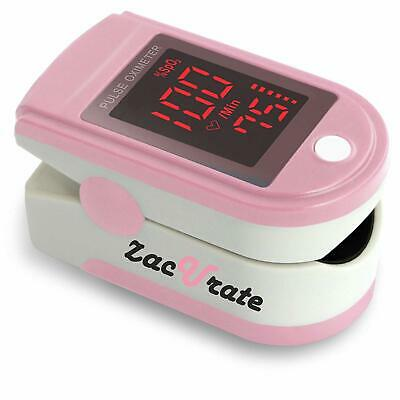 Zacurate Pink Fingertip Pulse Oximeter Pro Series SpO2 Monitor