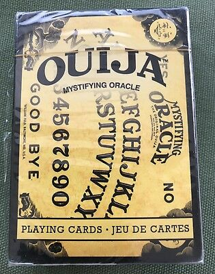 Ouija Regular Playing cards Jeu De Cartes w/images of  Ouija Board New & Sealed
