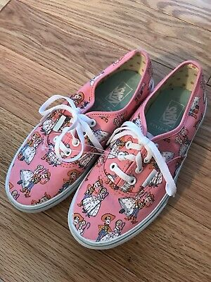 9dcf7da6172 Brand New Toy Story Vans sneakers Youth 2.5 Pink Bo Peep Woody Casual Fun