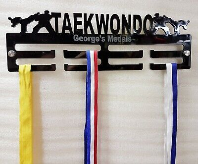 Taekwondo Medal Hanger/ Holder/ Display Personalised 2 Tier 5mm Acrylic