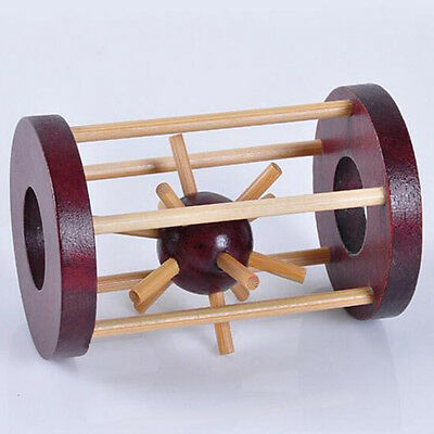 Wooden Kongming Lock Lu Ban Take out Spiked Ball Kid Brain Teaser Puzzle Toy New
