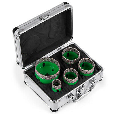 5PCS Diamond Holesaw Set W/Case M14 thread suitable Drill Core 22/35/40/50/65mm