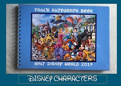Personalised Disney Autograph Book with Choice of Cover