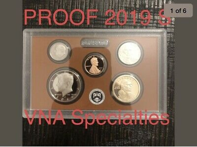 2019 S US Mint 10 COIN PROOF SET Box/COA/CAD ...