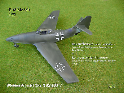 Messerschmitt Me 262 HG V      1/72 Bird Models Umbausatz / conversion kit