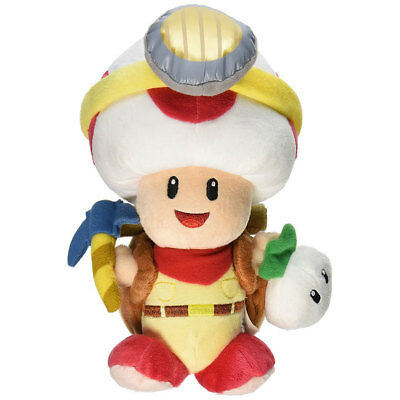 "Standing 8.5/"" BRAND NEW WITH TAGS SAN-EI 1409 Captain Toad Plush"
