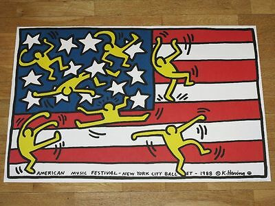 "Keith Haring Poster Plakat ""American Music Festival New York City Ballet 1988"""