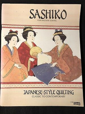 Sashiko For Machine Sewing Japanese-Style Quilting Classic-Contempry  Rostocki