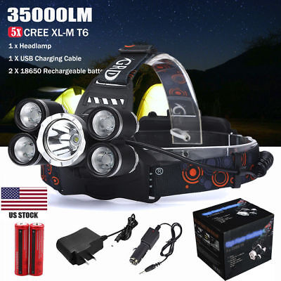 2X 5Modes 30000LM T6 LED Flashlight Torch Defense LIGHT For Camping Fishing US@
