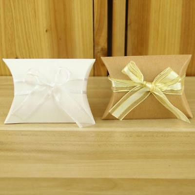 50Pcs Pillow Square Shape Boxes Wedding Party Holiday Favour Gift Candy Bag Fast