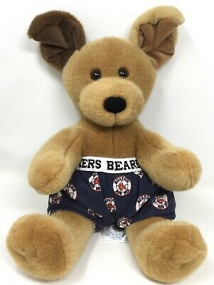 50130117f93 Build A Bear Puppy Dog with Red Sox Bearboxers Boxers Brown Sugar baseball  teddy
