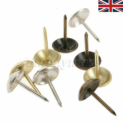 100pcs Bronze Upholstery Tacks Studs DIY Furniture Fabric Wood Decor 11*17mm UK