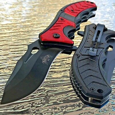 2 x MASTER USA SPRING ASSISTED TACTICAL FOLDING POCKET KNIFE Blade Open Assist