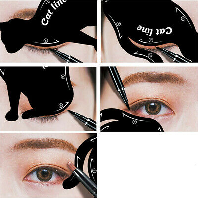 2 Set Charming Sexy Cat Line Makeup Easy Natural Stamp Tool Shadow Shaper Model