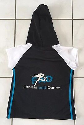 'FAD' Fitness & Dance, GIRL'S SZ 10, short sleeve hooded jacket, EUC