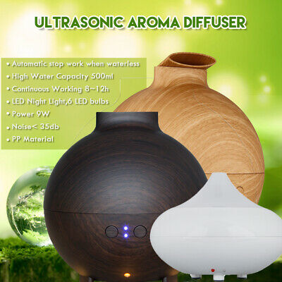 140/300/500ml Essential Oil Aroma Diffuser LED Ultrasonic Air Mist Aromatherapy