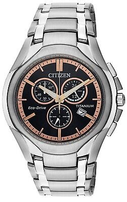 New Authentic Citizen Eco Drive Titanium Corso Chronograph At0940-50G Mens Watch