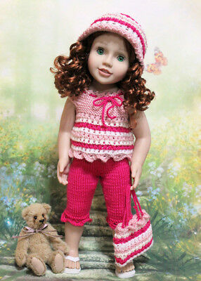 4pce Hand Knitted Set for Australian Girls, Gotz Classic &Happy Kidz dolls