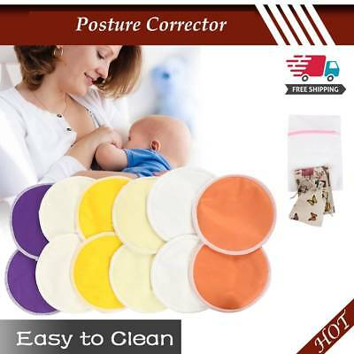 Washable Breast Pads Reusable Bamboo Fiber Three-Layer Anti-Overflow Breast  Pad