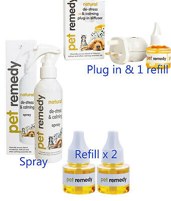 Pet Remedy Dog calming Spray Difuser Refill Valerian Based Reduce Anxiety Stress