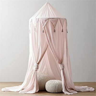 Bed Princess Tent Round Dome Net Kids Room Play Mosquito Decoration