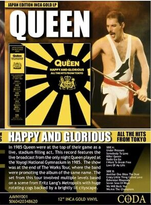 Queen - Happy And Glorious All The Hits From Tokyo Inca Gold Vinyl lp - NEW