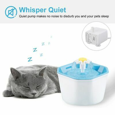 Automatic Pet 1.6L Water Fountain Electric Dog/Cat Drinking Bowl Waterfall Bowl