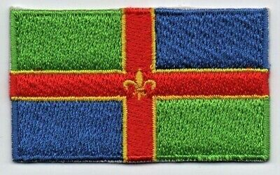 Embroidered LANCASHIRE County Flag Iron on Sew on Patch Badge HIGH QUALITY A1143