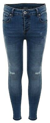 Kings Will Dream Junior Romer Skinny Rip Jeans-Mid Blue