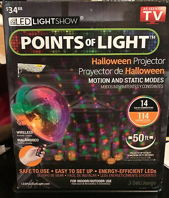 HALLOWEEN LIGHTSHOW PROJECTION-POINTS of Light-114 Programs