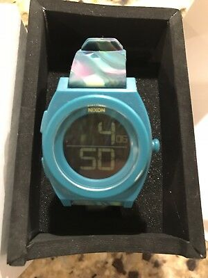 d9eab32c6 Nixon A417-1610 Time Teller Women Multicolor Rubber Band Digital Dial Watch  NWT