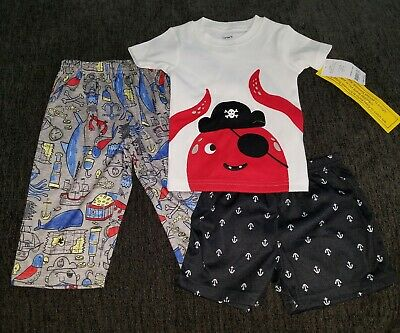 fea72a22d NWT - CARTERS 3pc octopus pirate short sleeved pajamas - 24 mos boys ...