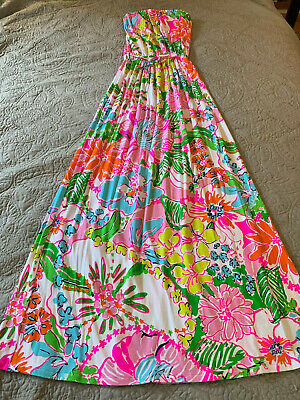8f9d567174a8 Lilly Pulitzer For Target Xs Nosey Posey Maxi Dress Petite Euc Hidden Kitty  Cats