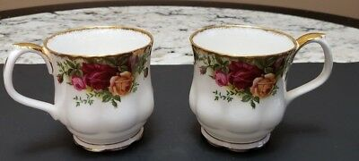 Royal Albert Old Country Roses Short Coffee Cups Old Label 1962 #3