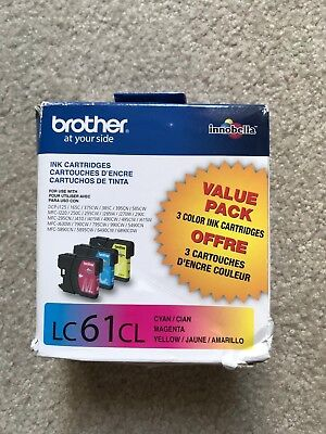 GENUINE BROTHER GCX-4W70 WHITE INK POUCH 2 PACK