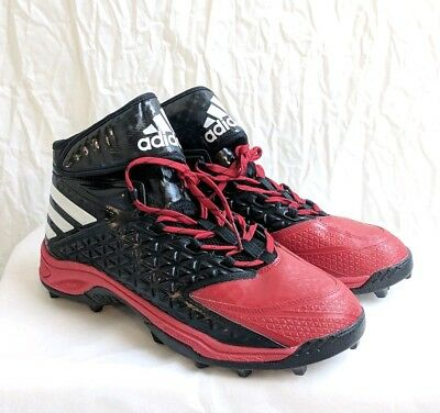 Adidas Men s Football Cleats Size 13 Black and Red NEW Torsion System AQ6968 84a41057d