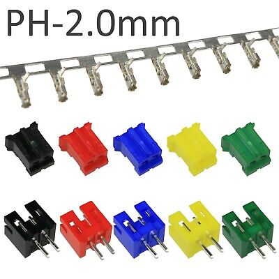 2-pin Colour PH 2.0mm Connector Sets (JST PH Style)