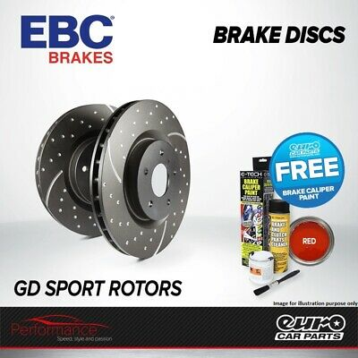 EBC GD Rear Performance Brake Discs x2 Pair 255mm Solid GroovedDimpled GD1283