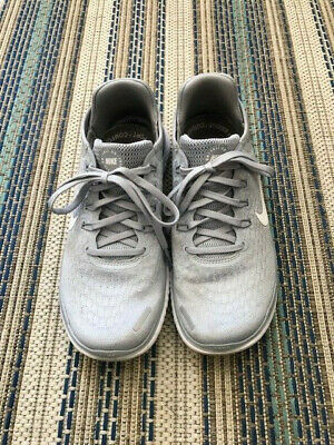 separation shoes 6780b 2d4ce WOMENS NIKE FREE RN 2018 Wolf Grey and White Running Walking Trail Sneakers  7.5