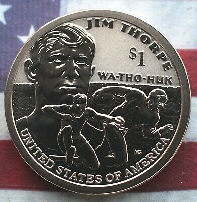 Kappyspenny 2018S Reverse Proof Jim Thorpe Native American Dollar Free Shipping